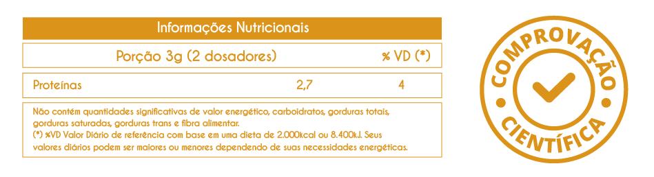 tabela nutricional colágeno collagen vhita