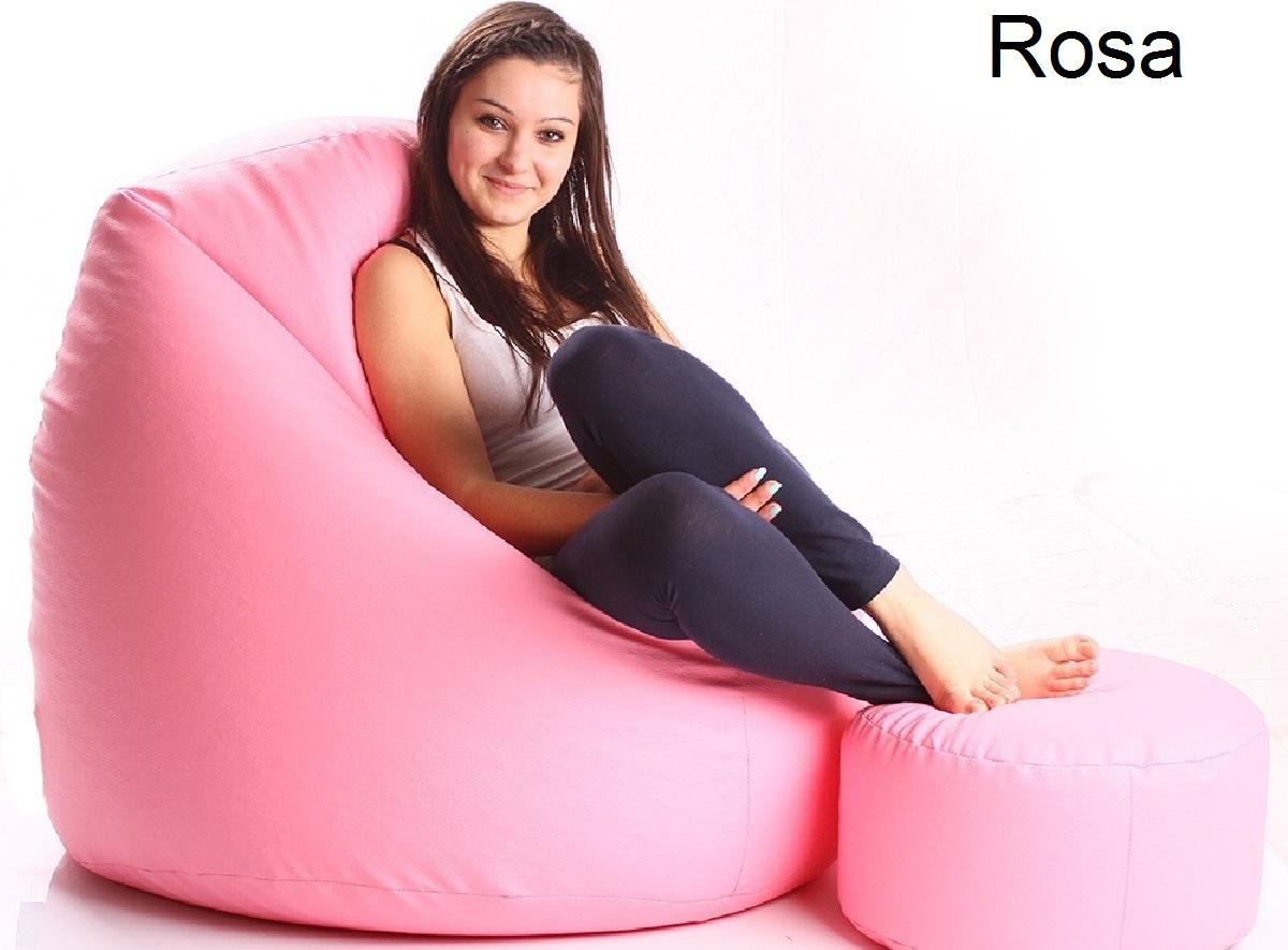 Puff Pera Grande Cheio Apoio Descanso Pes CasaClique Rosa