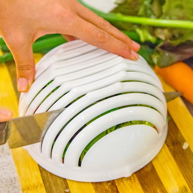 Picador Triturador Manual De Salada Legumes E Frutas