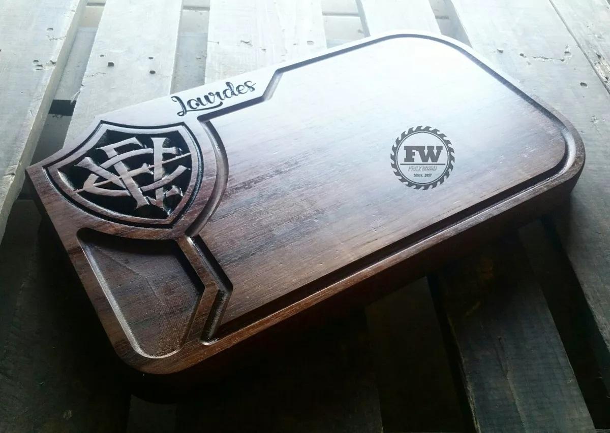 tabua de carne de madeira do VITORIA da Bahia personalizada