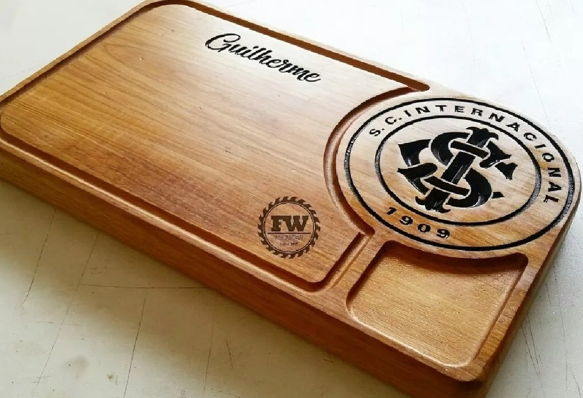 tabua de carne personalizada kit churrasco do inter iternacional