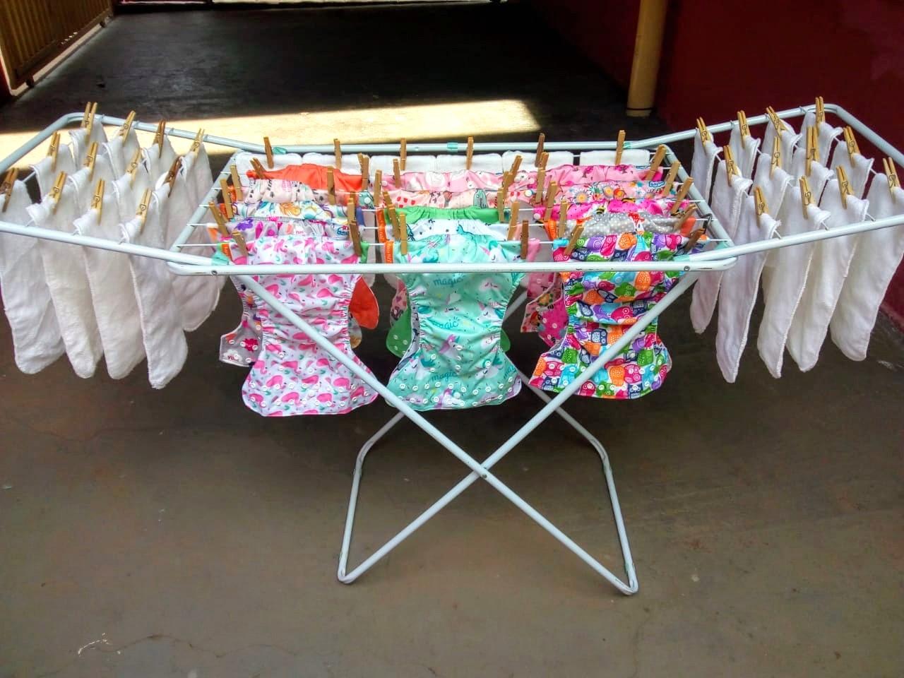 fraldas ecológicas - como lavar e secar - 4