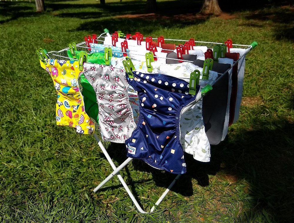 fraldas ecológicas - como lavar e secar - 3