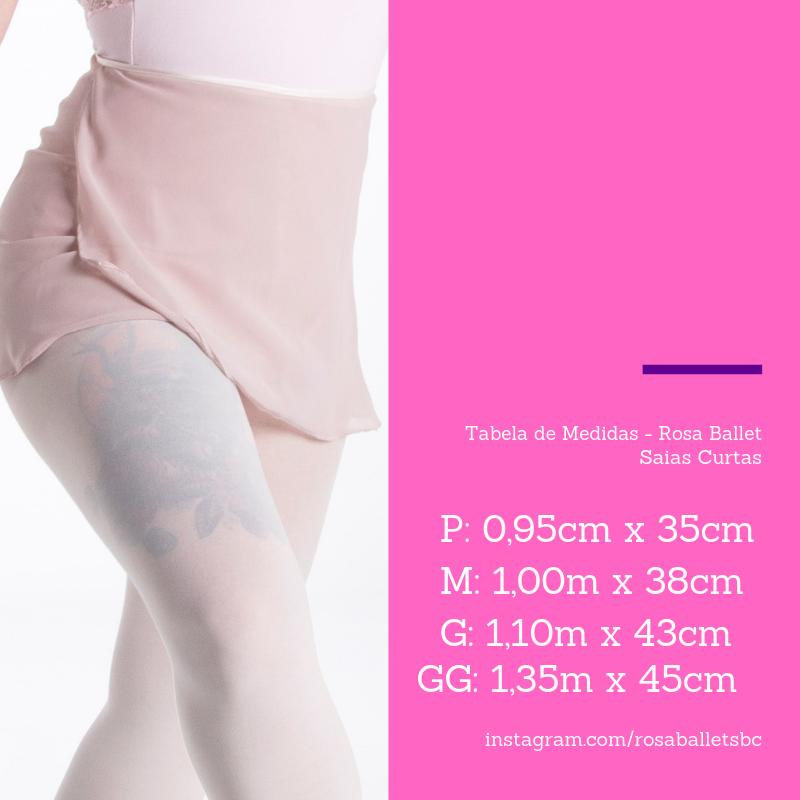 69e52bf9a8 Saia Lilás - Rosa Ballet - Tamanho P - Assemblé Store