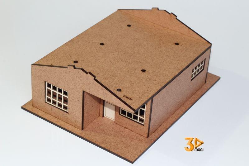 Maquete de casa em madeira 1:43