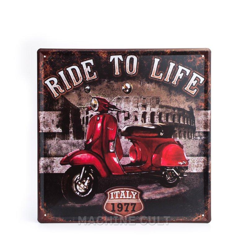 Placa Lambretta Presentes para Motociclistas