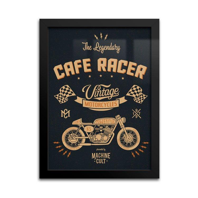 Placa Café Racer Presentes para Motociclistas