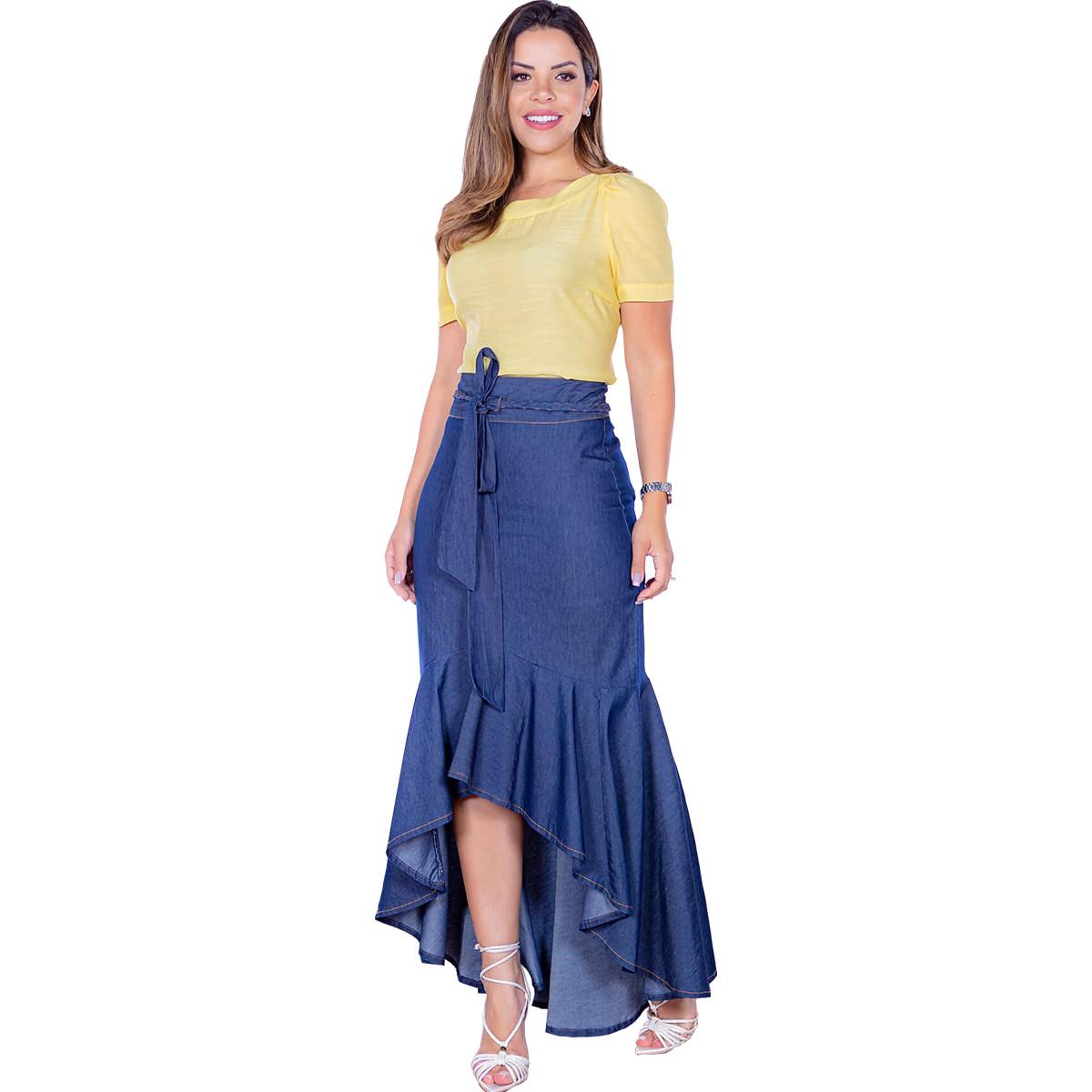 saia-jeans-longa-babados-moda-evangelica