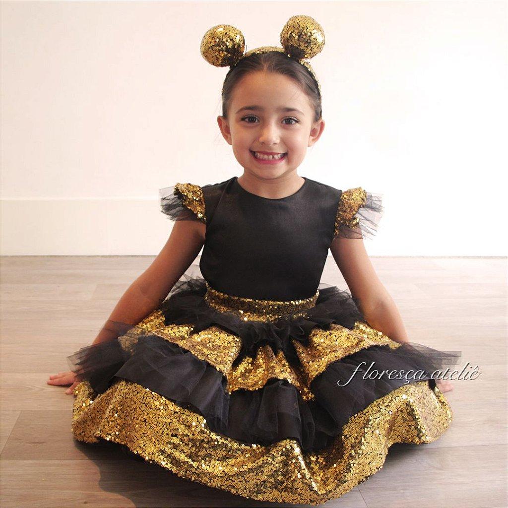 Vestido De Luxo Lol Queen Bee Floresca Atelie Floresca Atelie Infantil