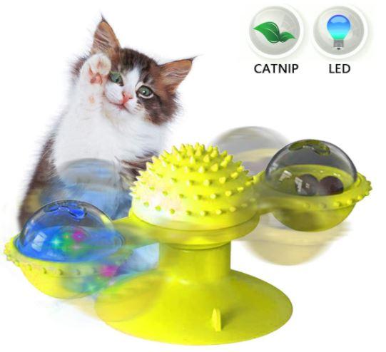 Brinquedo Moinho de Vento para Gatos