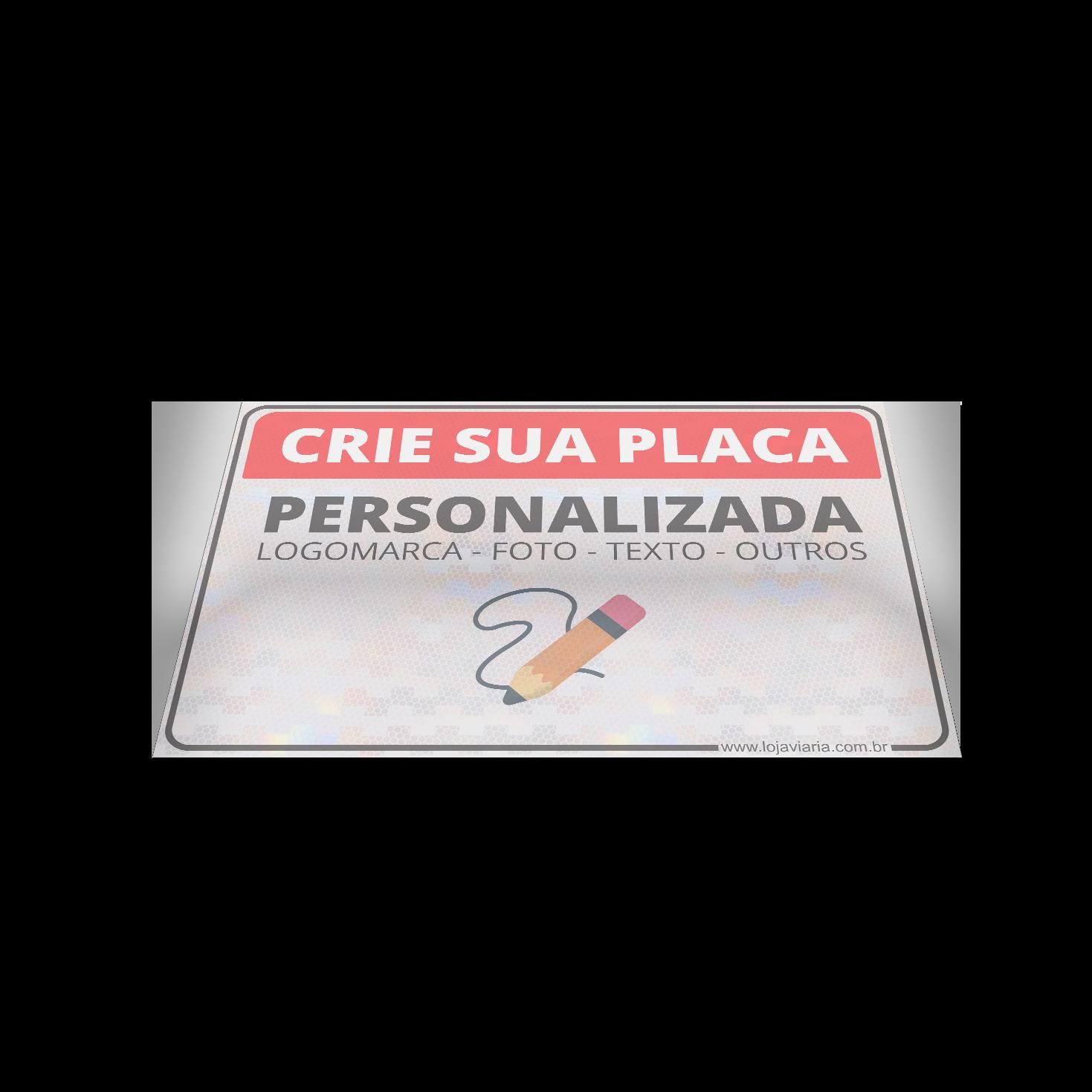 placa personalisada