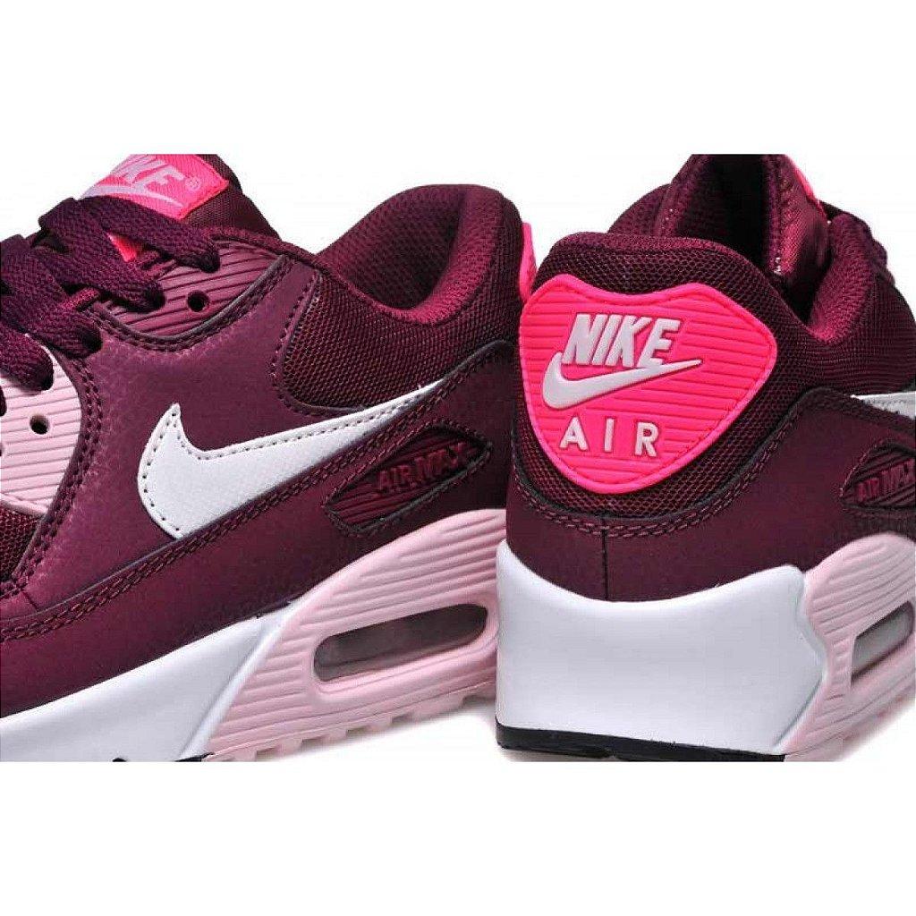 air max 90 feminino rosa e branco