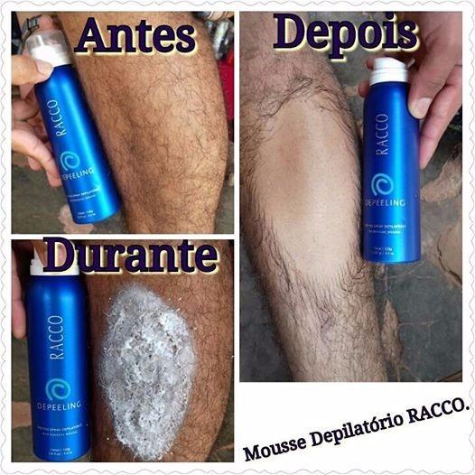 teste mousse spray depilatorio creme depeeling racco 150ml para homens e mulheres