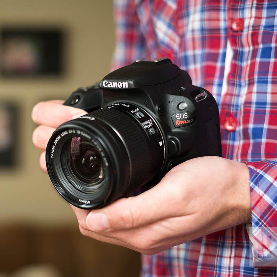 Câmera DSLR Canon EOS Rebel SL2 - Campvideo Comércio de
