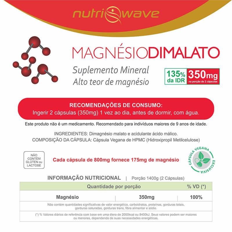 Tabela Nutricional Magnesio Dimalato Nutriwave 800mg