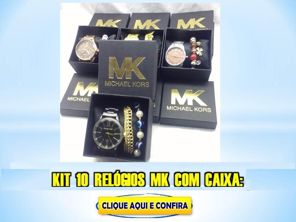 Kit 10 Relógios Femininos MK Com Caixa E Pulseira No Atacado