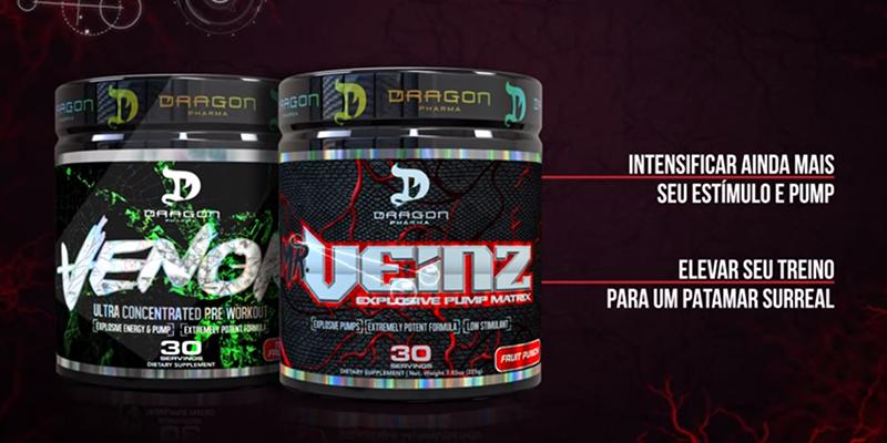 Combo Pump Muscular - Mr. Veinz e Venom - Primo Suplementos