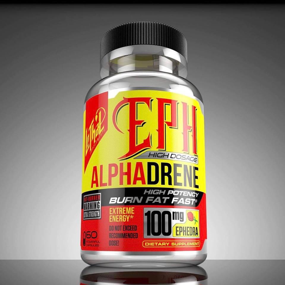 eph-alphadrene-100mg-efedrina-extrema-energia-lethal-supplements-primo-suplementos