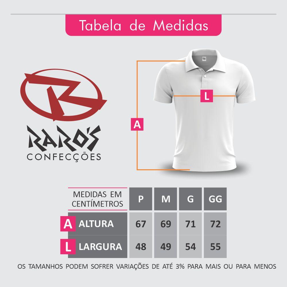 Tabela de Medidas Camisa Polo Raros