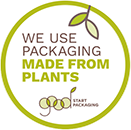 We Use Packaging Made from Plants - Start Packaging