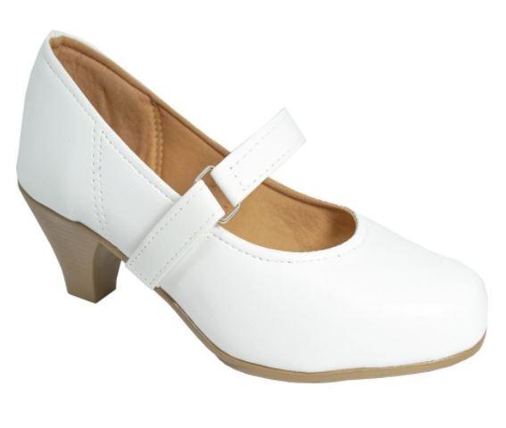sapato de salto branco enfermeira