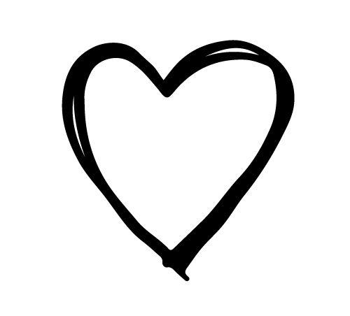 Coração rabisco - studio de design