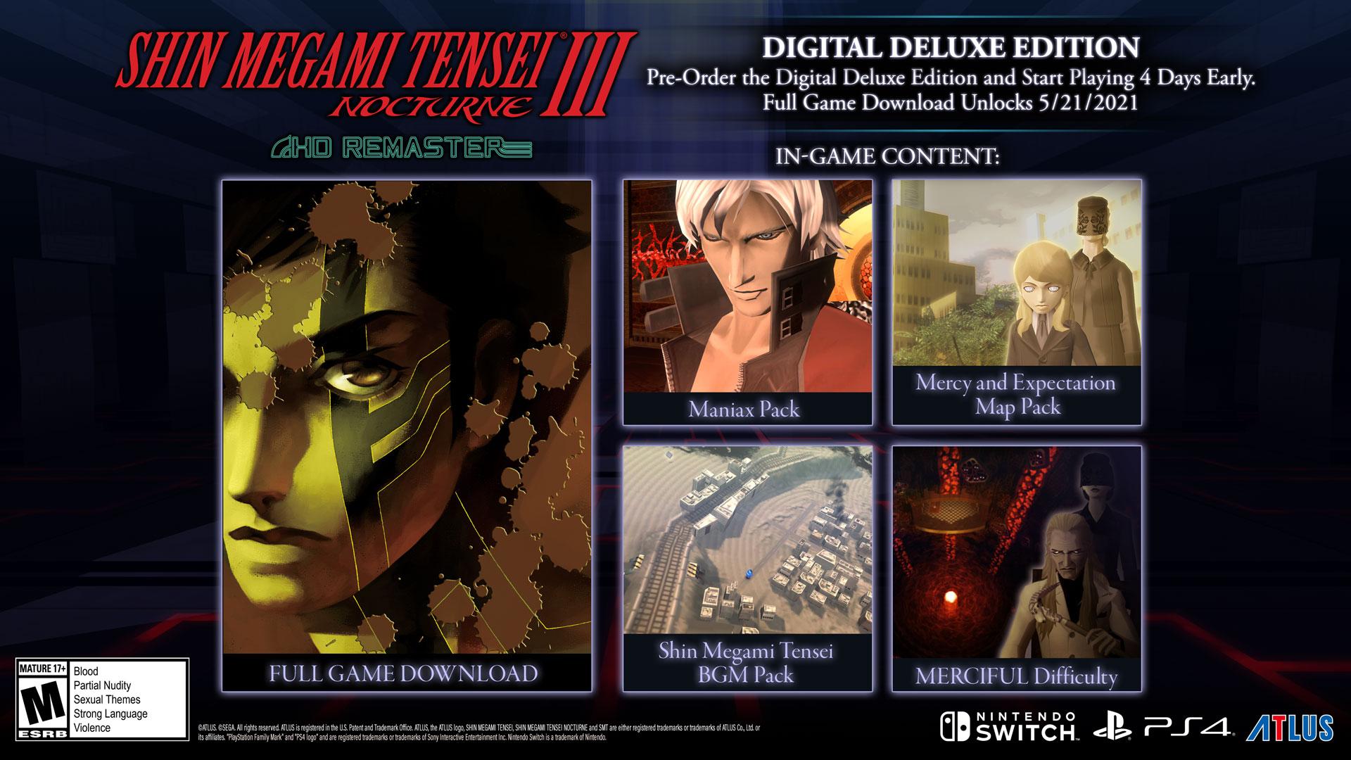 Shin Megami Tensei III: Nocturne HD Remaster New Screenshots