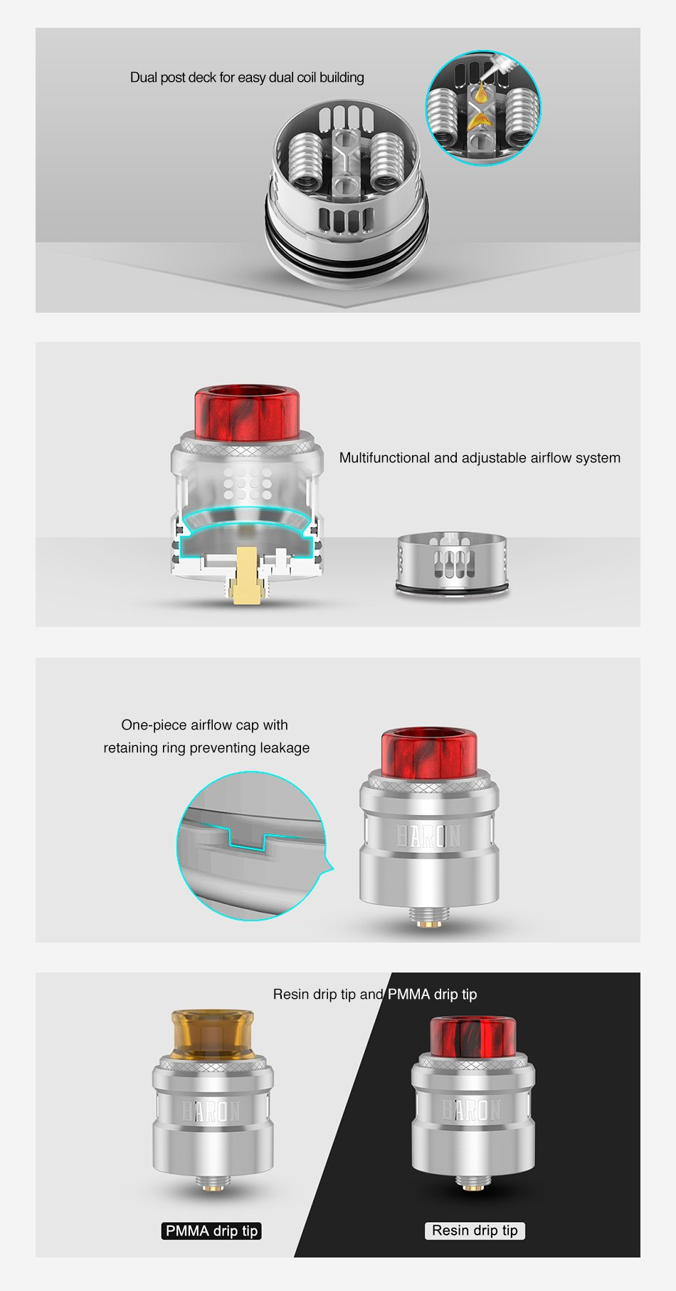 Atomizador Baron RDA Geek Vape