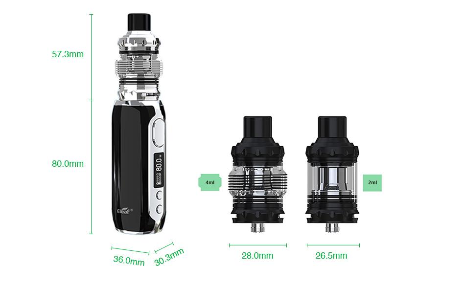 Kit iStick RIM - 80W 3000 mAh - C/ Atomizador Melo 5 - Eleaf