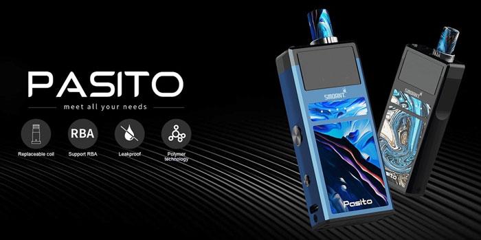 Pod System Pasito Rebuildable 1100mAh - Smoant