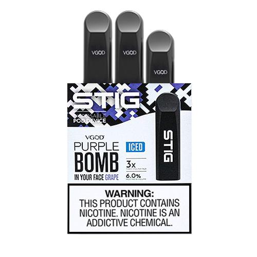 Pod System Descartável (Disposable Pod Device) Stig - Purple Bomb (Iced) - Vgod