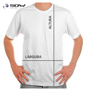 6efc6fe0dc Camiseta Manga Curta - 100% Algodão   Malha Fria