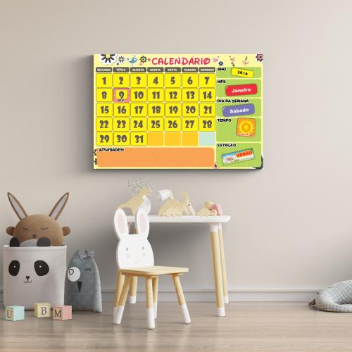 Cartaz interativo de apoio para dificuldade de aprendizagem de datas e dificuldade de leitura