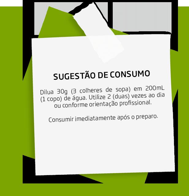 Sugestão de consumo