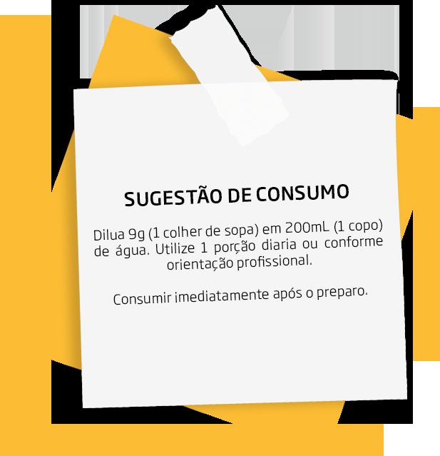 Sugestão de consumo do AMINO HYDRO