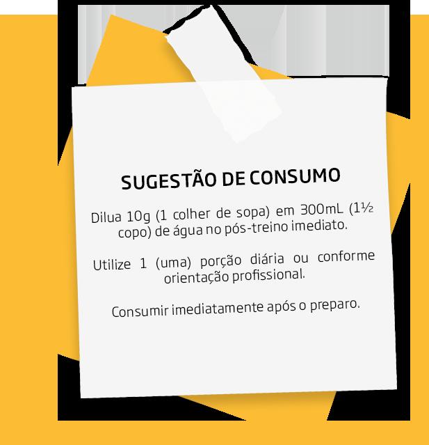 Sugestão de consumo do Recharged