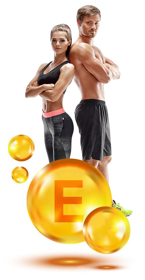 Casal saudável com vitamina E