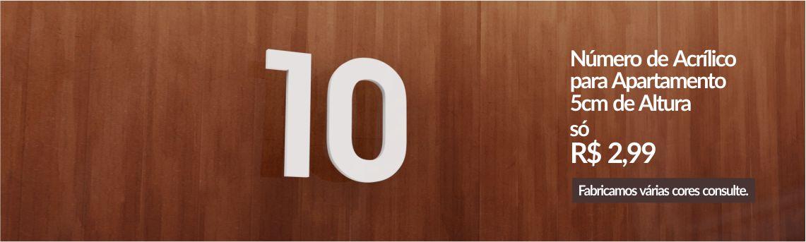 Números de Acrílico para Apartamento