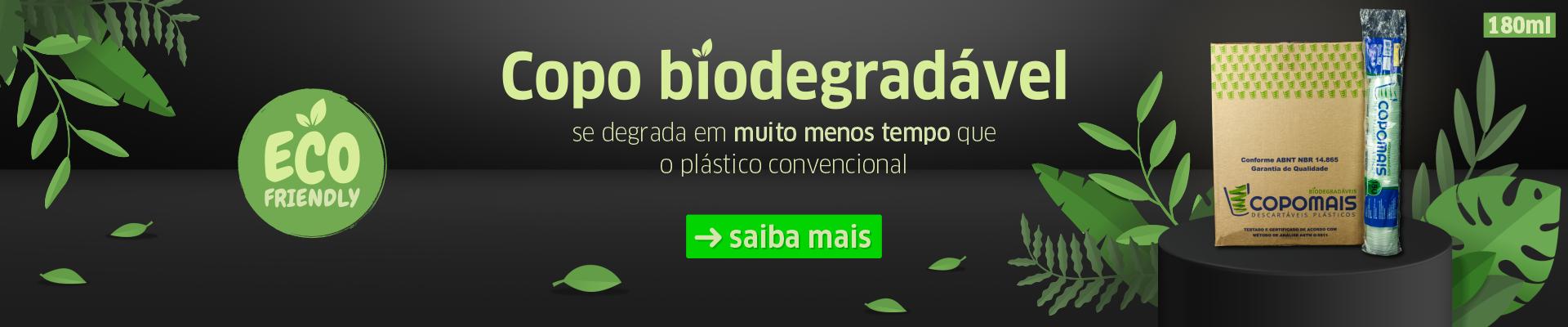 Copo Biodegradável 180ml Eco Friendly