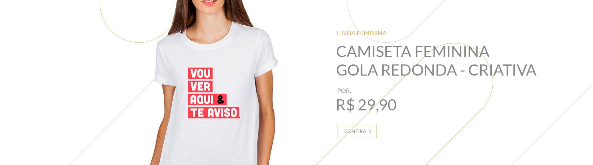 Banner Camiseta feminina