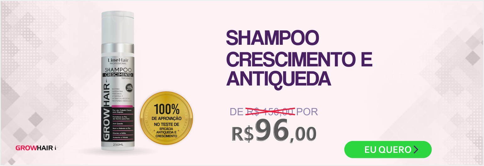 Shampoo GrowHair Crescimento e Antiqueda