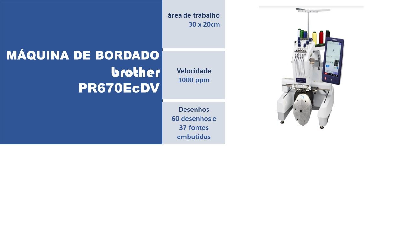 Máquina de Bordado PR670EcDV