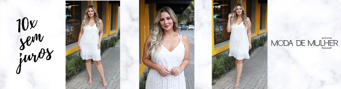vestido branco strass