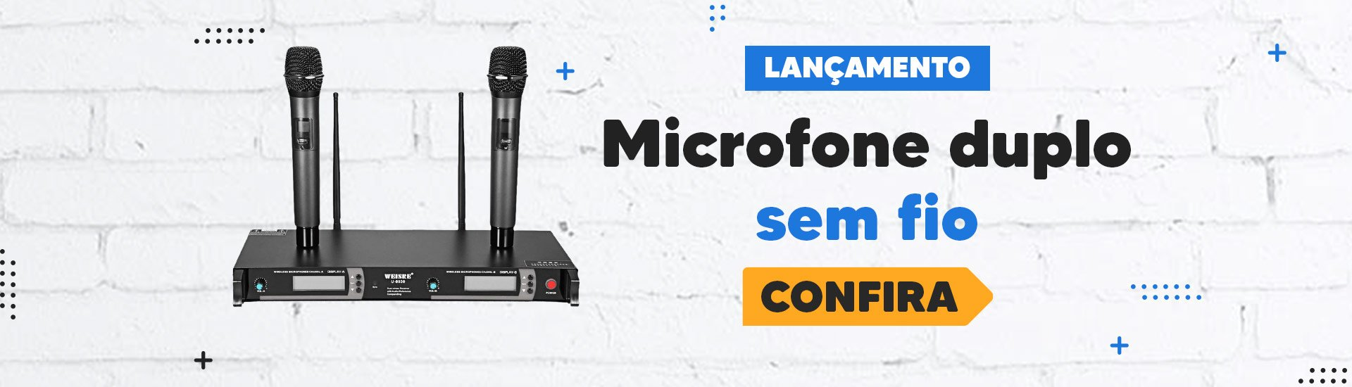 Lançamento - Microfone duplo sem fio