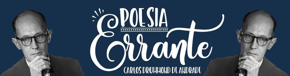 Banner Carlos Drummond de Andrade