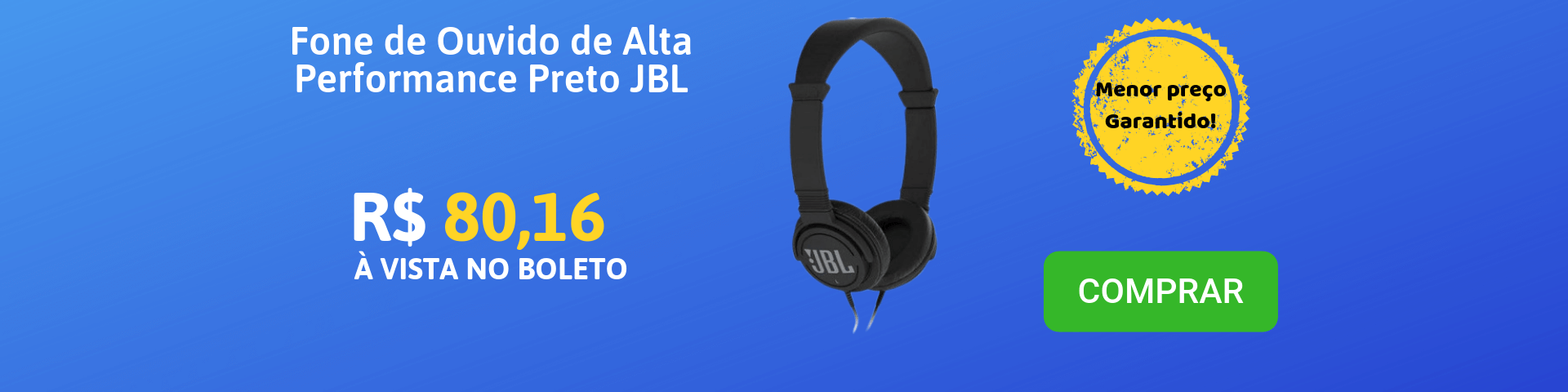 Fone de Ouvido de Alta Performance C300SI Preto JBL