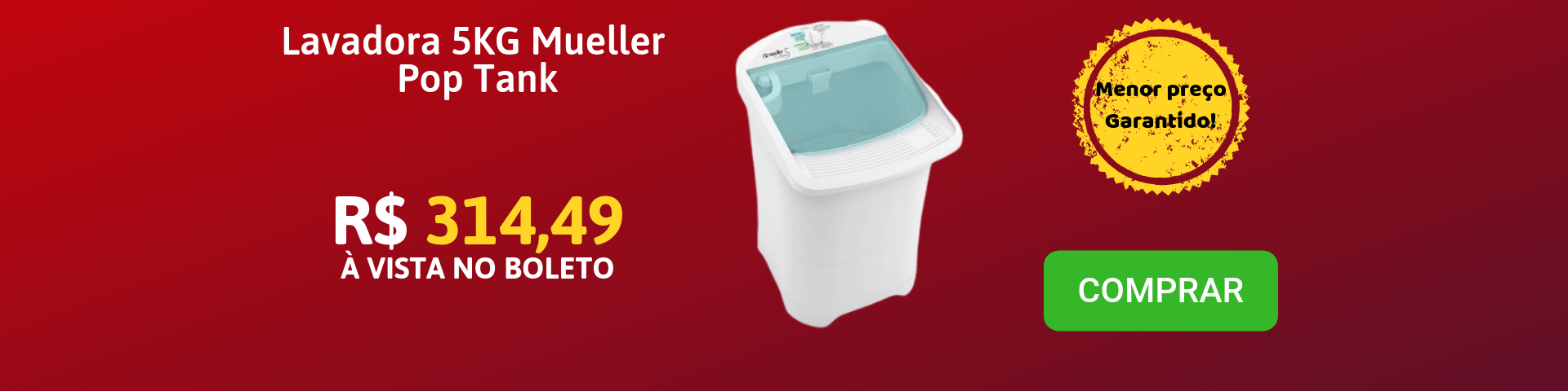 Promo LAVADORA 5KG MUELLER POP TANK - 600005011
