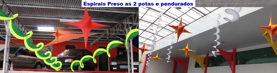 ESPIRAIS PRESO AS 2 PONTAS E PENDURADOS