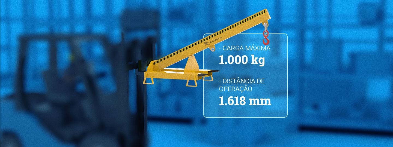Lança Fixa de Carga 1.000 kg para Empilhadeira