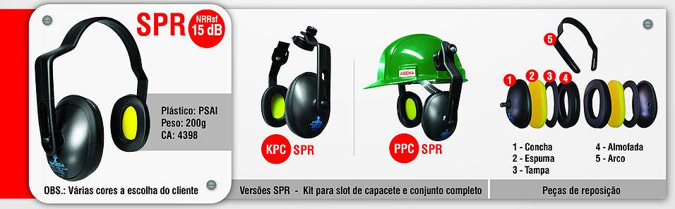 Abafador de ruído SPR 15dB Agena  - Acoplar